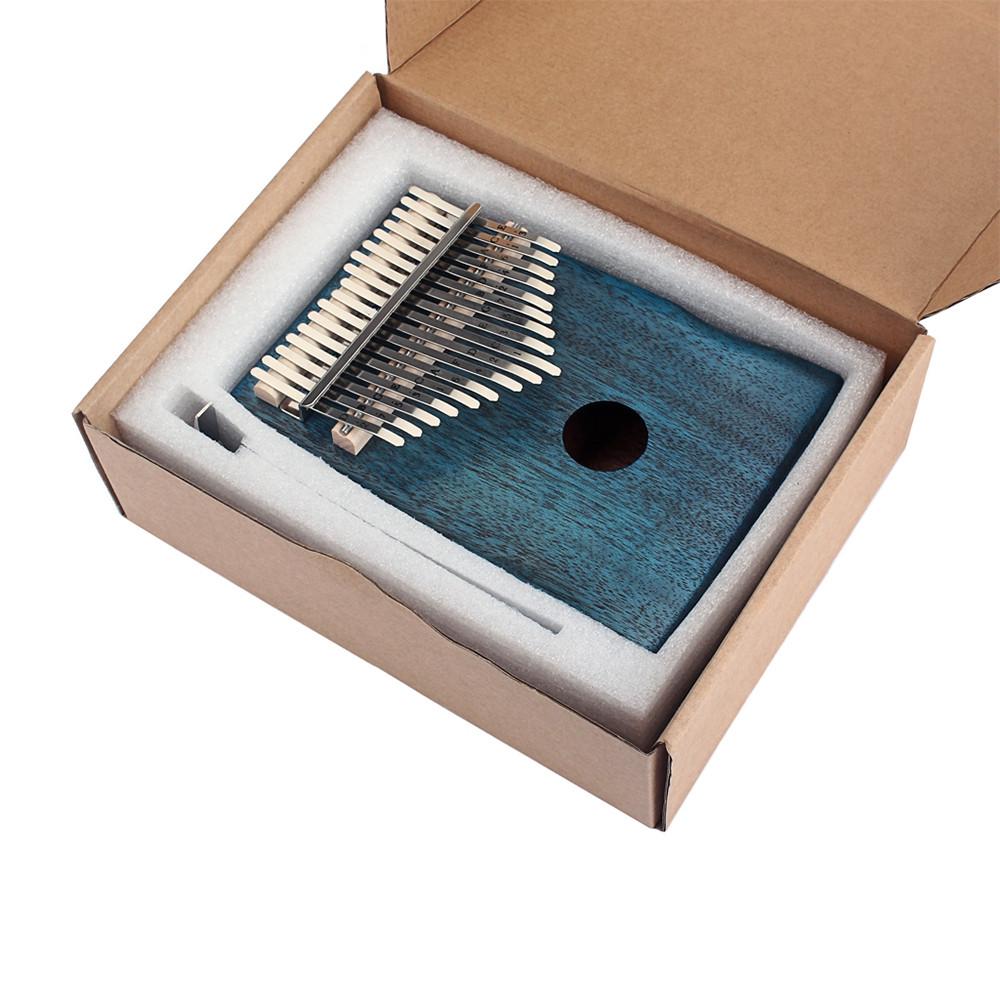 17 Key Mahogany Kalimba Finger Thumb Piano Mbira Gift Craft Blue