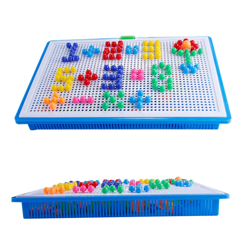 296PCS Mushroom Nail Kit Puzzle Toy