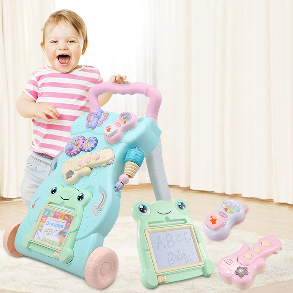 Multifunction Baby Rollover Prevention Sit-to-Stand Learning Walker