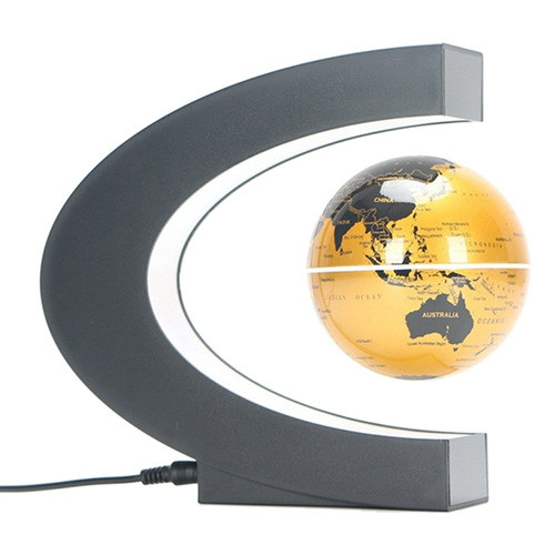 Creative Magnetic Levitation Globe C-shaped Teaching Toys for Children