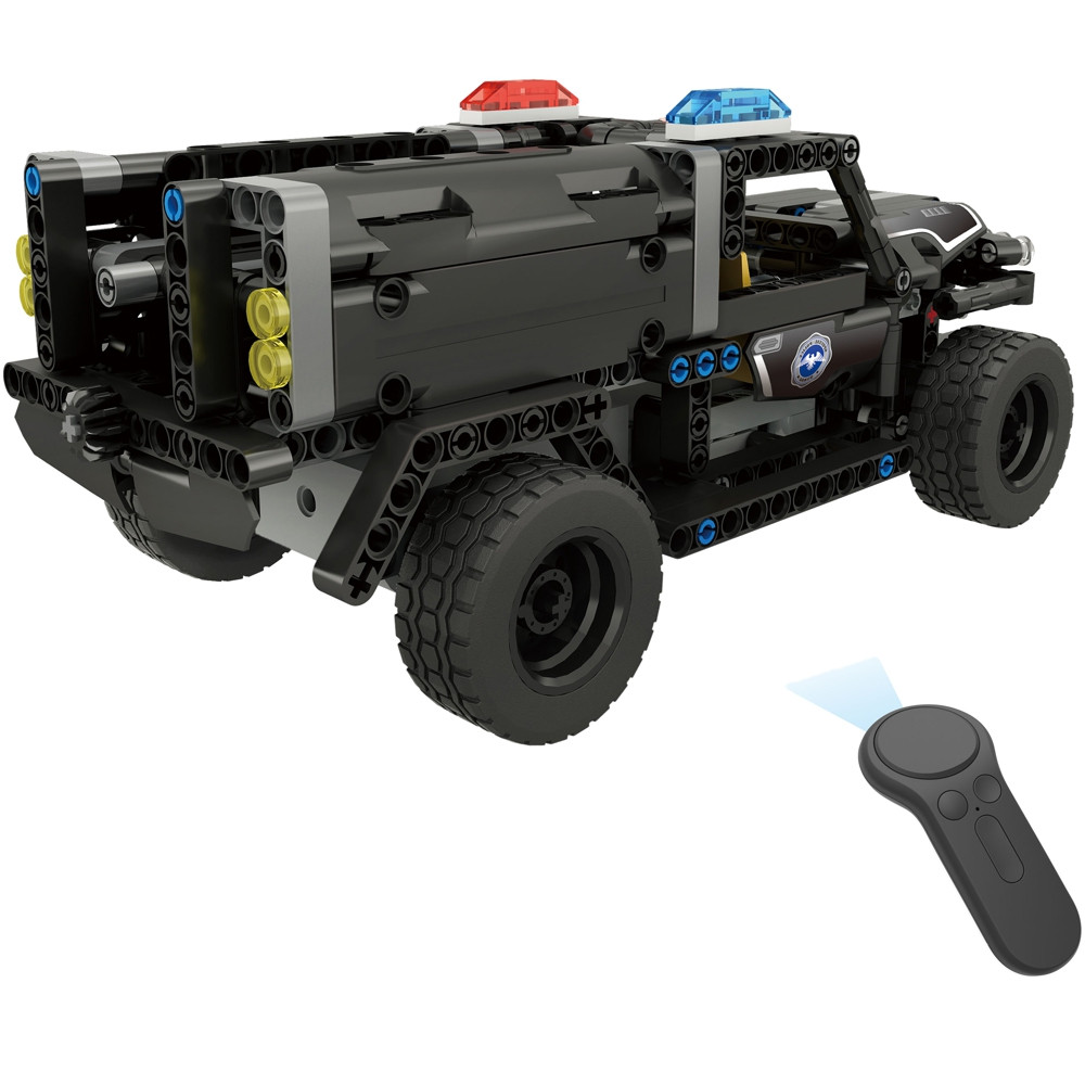 BB13006 DIY Assembled 2.4G Four-way Remote Control Blocks Electric Swat Water Gun Car 431pcs