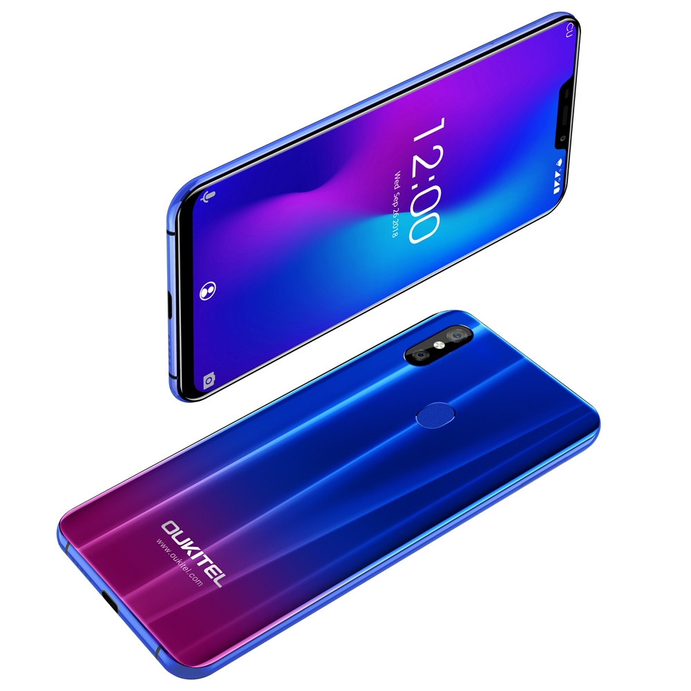 OUKITEL U23 4G Phablet 6.18 inch Android 8.1 MTK 6763T Octa Core 2.0GHz 6GB RAM 64GB ROM 16.0MP + 2.0MP Rear Camera 8.0MP Front Camera 3500mAh Built-in