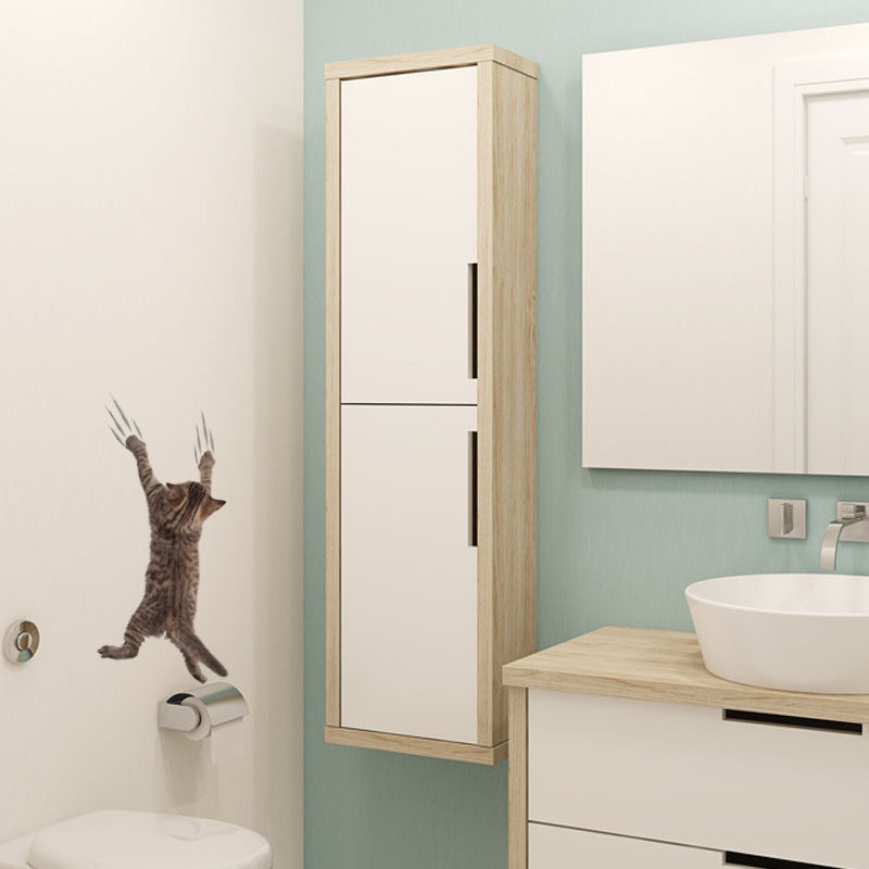 Cat Fashion Shapes Toilet Wall Sticker
