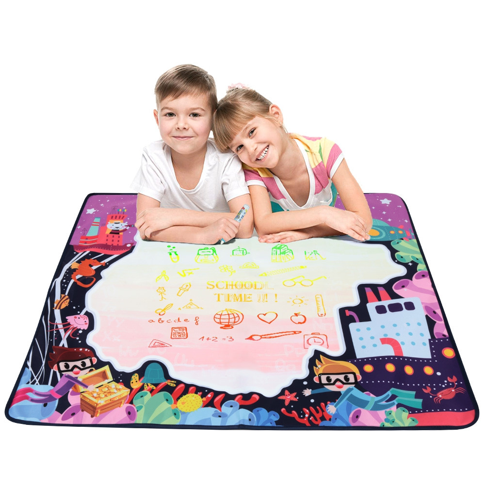 Magic Water Drawing Mat with One Pen for Kids Toy