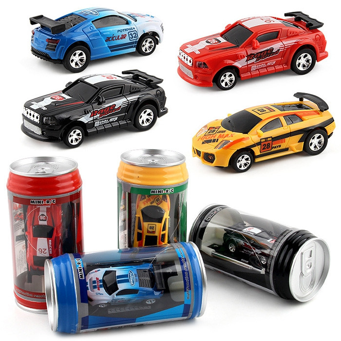 1/63 Mini RC High-speed Drifting Off-road Car Pull-ring Can Toy Gift for Children