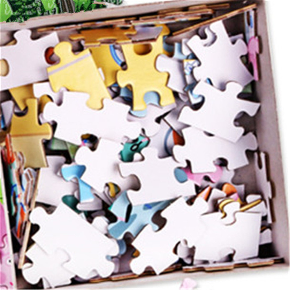 3D Jigsaw Paper Sunset Puzzle Block Assembly Birthday Toy