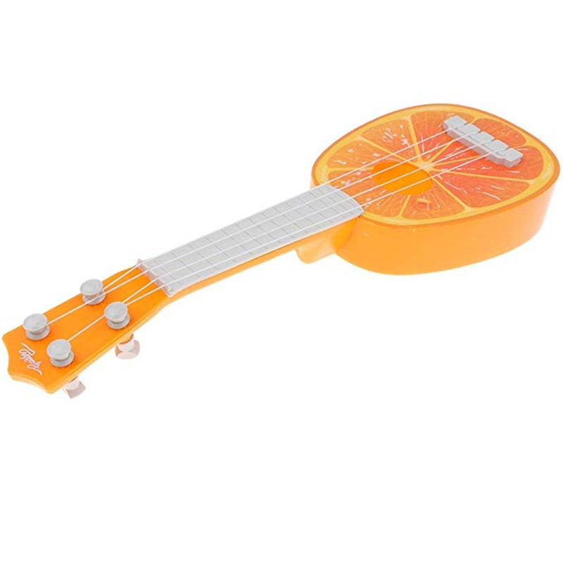 Children Learn Guitar 4 Strings Mini Fruit Play Musical Instruments toy