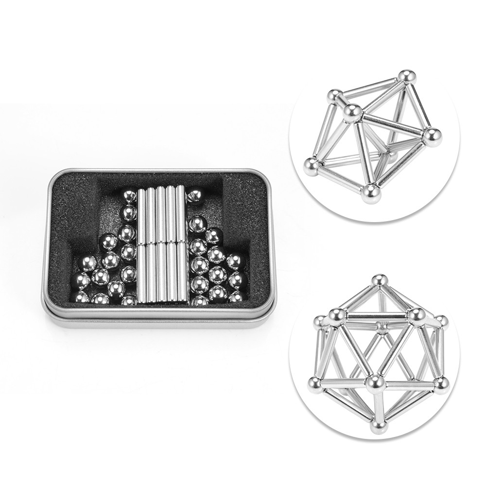 Innovative 36pcs Magnetic Sticks 27pcs Steel Balls Toy Building Blocks Puzzle Toy