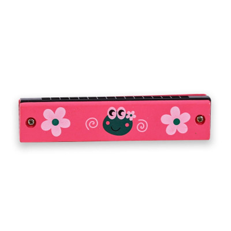 Wooden Tremolo Harmonica for Beginner Colorful Music Instrument Educational Toy