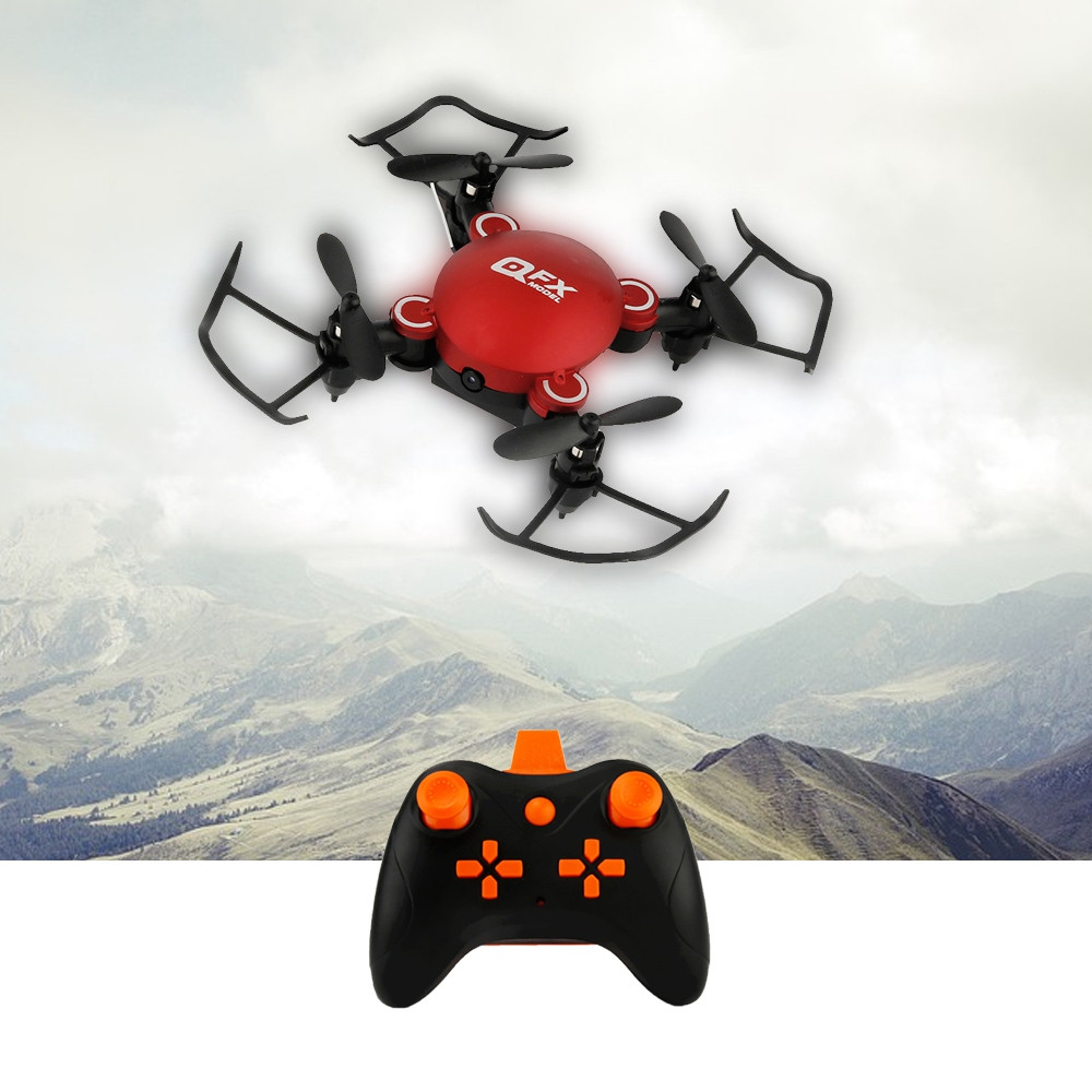 QFX Foldable Quadcopter Mini Drone Model Toy with Remote Control