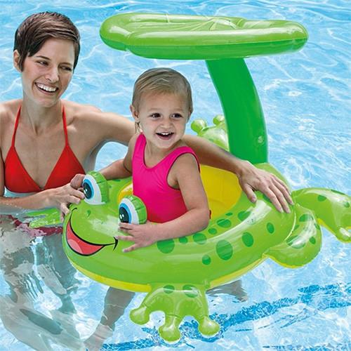 Frog Sunshade Baby Swimming Ring