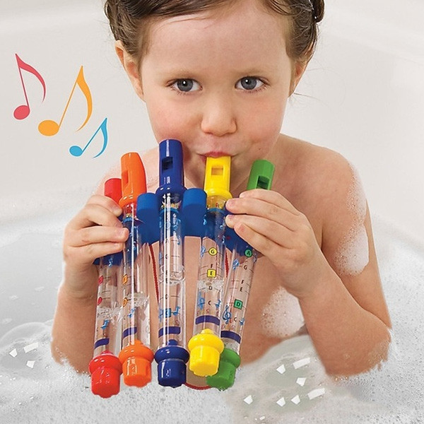 Kids Colorful Water Flutes Bath Tub Tunes Toys