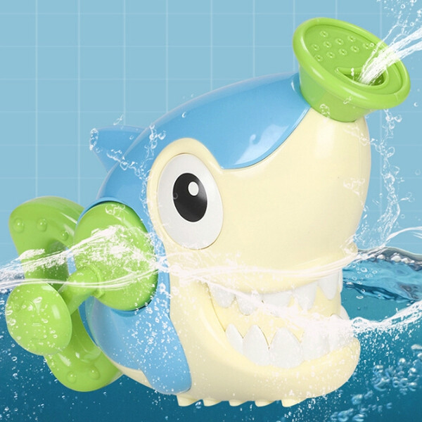 Children's Hand Spray Shower Head Toy Shark