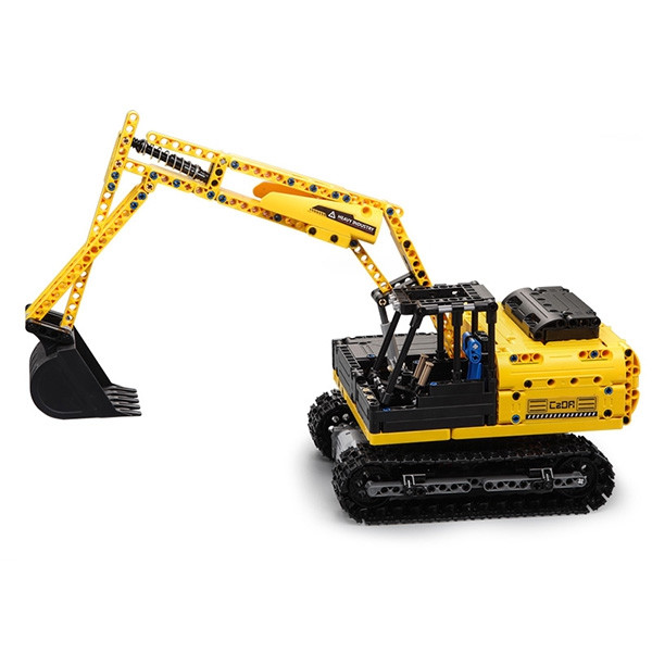 CaDA C51057W Electric Remote Control Assembly Crawler Excavator Truck Toy