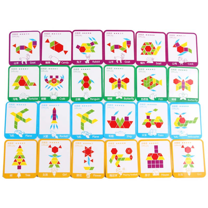 Wooden Jigsaw Puzzle Board Colorful Baby Educational Toy for Children 155pcs