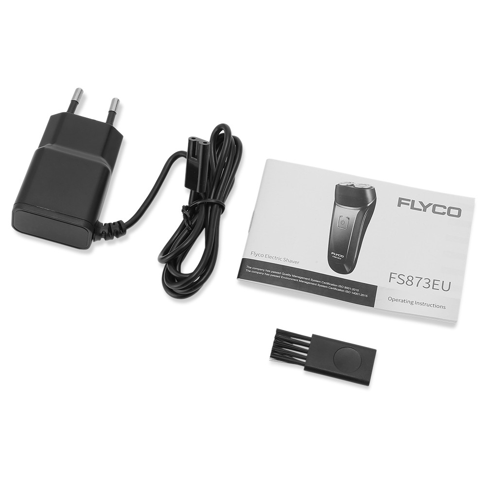 FLYCO FS873EU Electric Shaver Washable Beard Trimmer Rechargeable Razor for Men