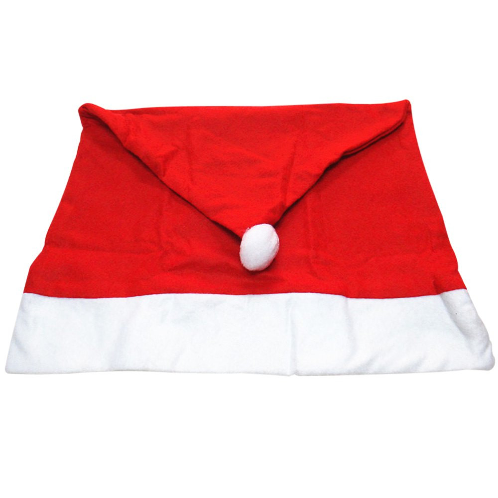6pcs Santa Claus Hat Chair Cover Christmas Decoration for Home Party Holiday