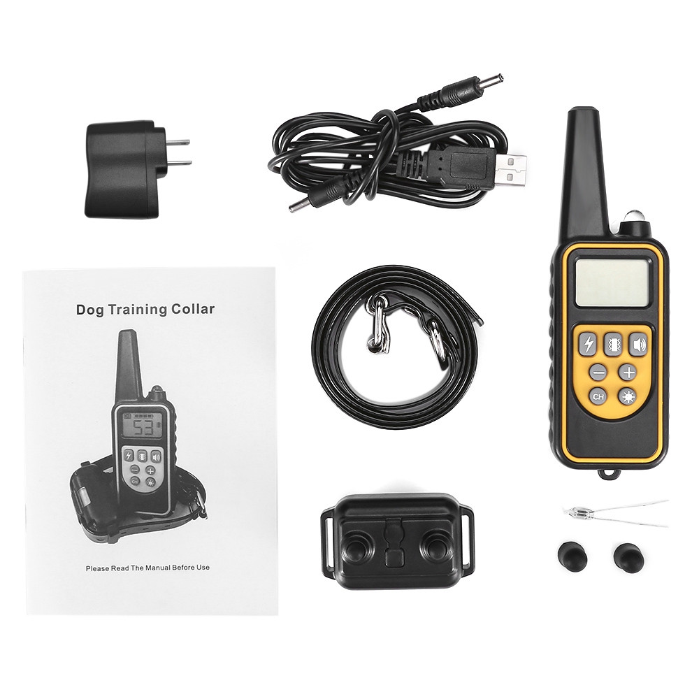 880 800m Waterproof Rechargeable Remote Control Dog Electric Training Collar