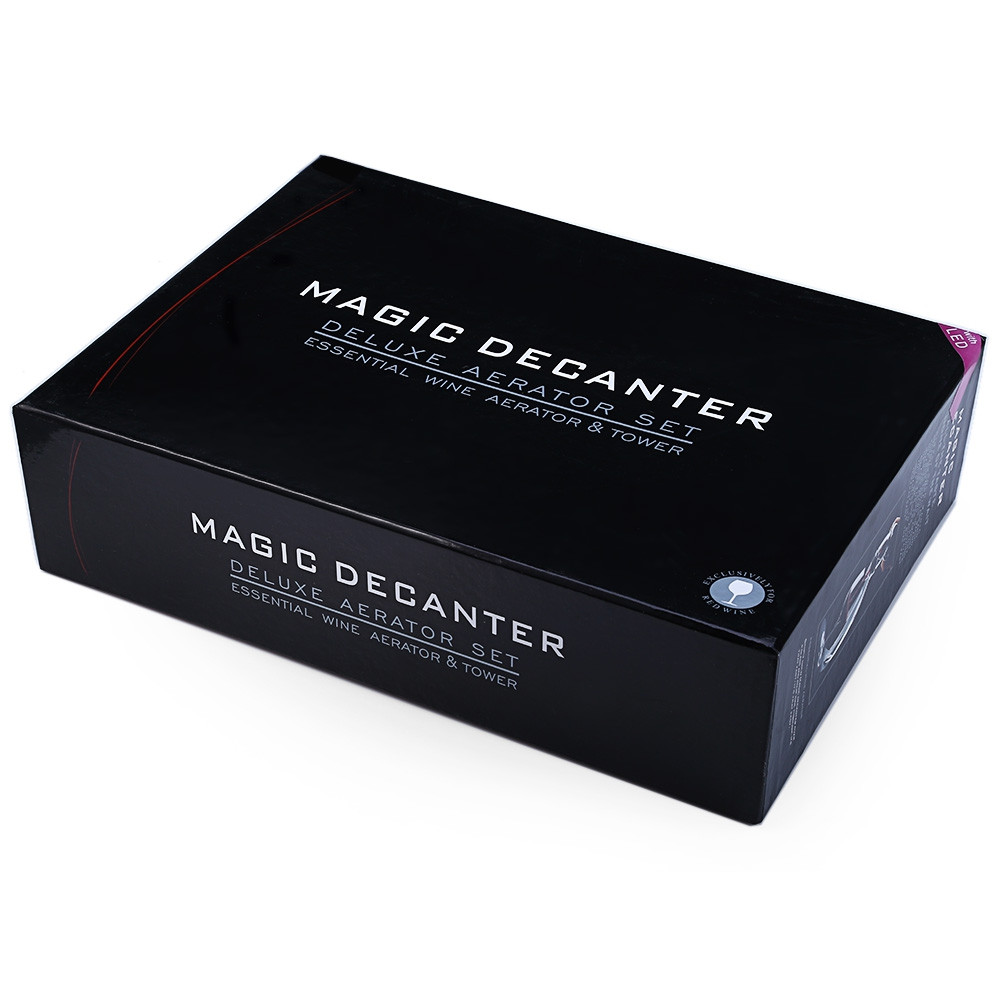 Magic LED Wine Aerator Set Deluxe Essential Decanter Gift Box