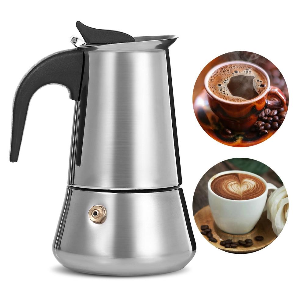 Stovetop Espresso Maker Stainless Steel Moka Coffee Pot