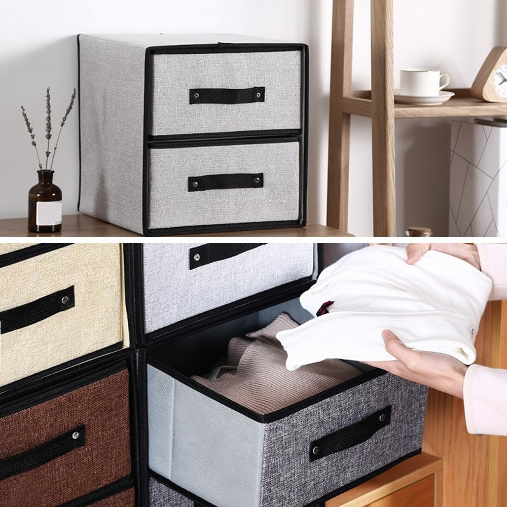 Washable Fabric Storage Box Drawer Type