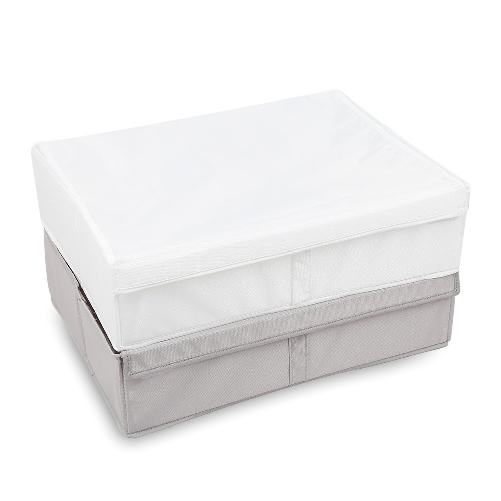 2-in-1 Foldable Oxford Fabric Underwear Organizer Clothes Store Box with Lid
