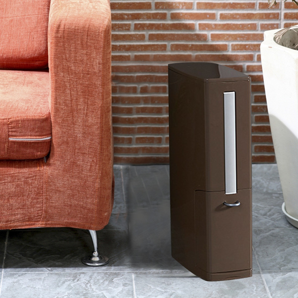 Multifunction Narrow Type Plastic Trash Can with Toilet Brush