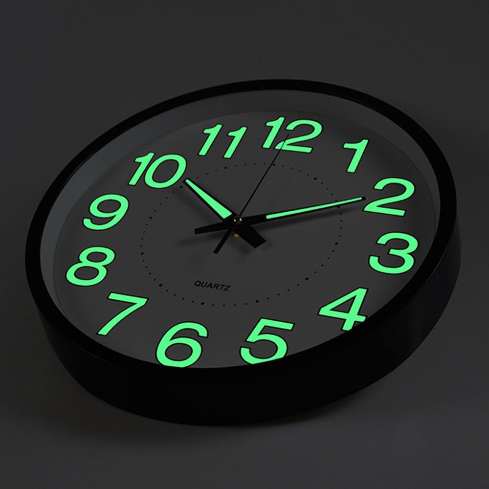 12 inch Luminous Wall Quartz Clock Home Decorations