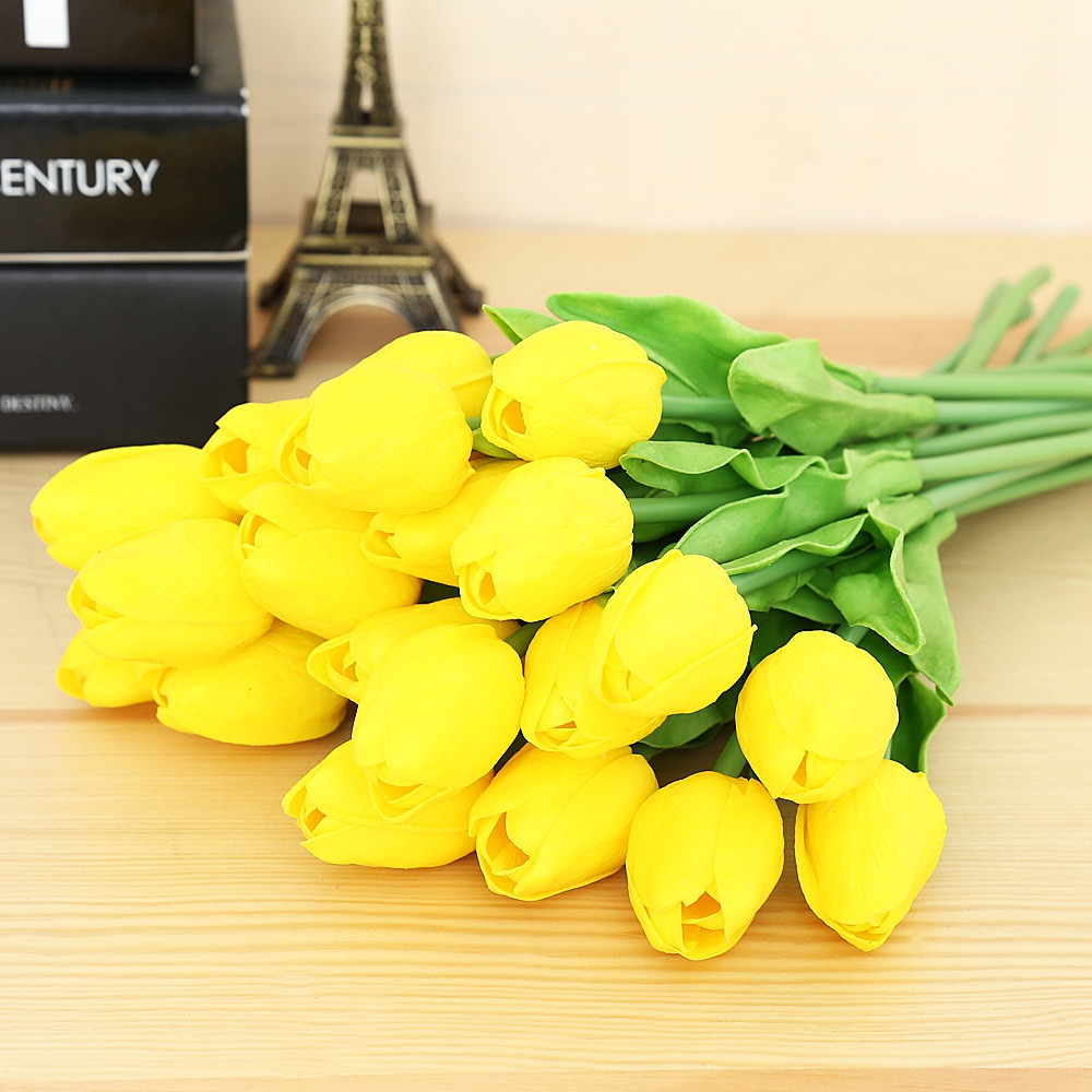 20pcs Artificial Tulip Flower Bouquet Party Wedding Decor