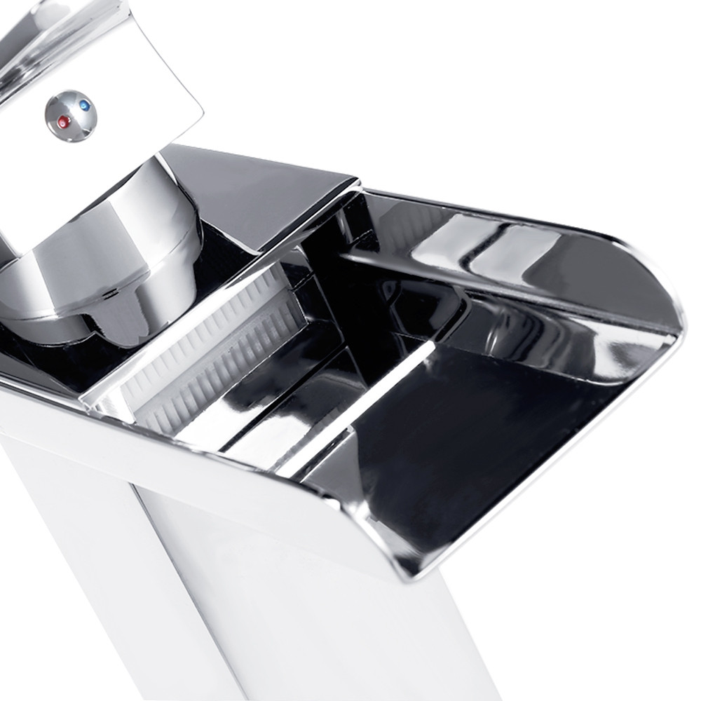 Single Handle Bathroom Waterfall Faucet Spout Sink Mixer Tap