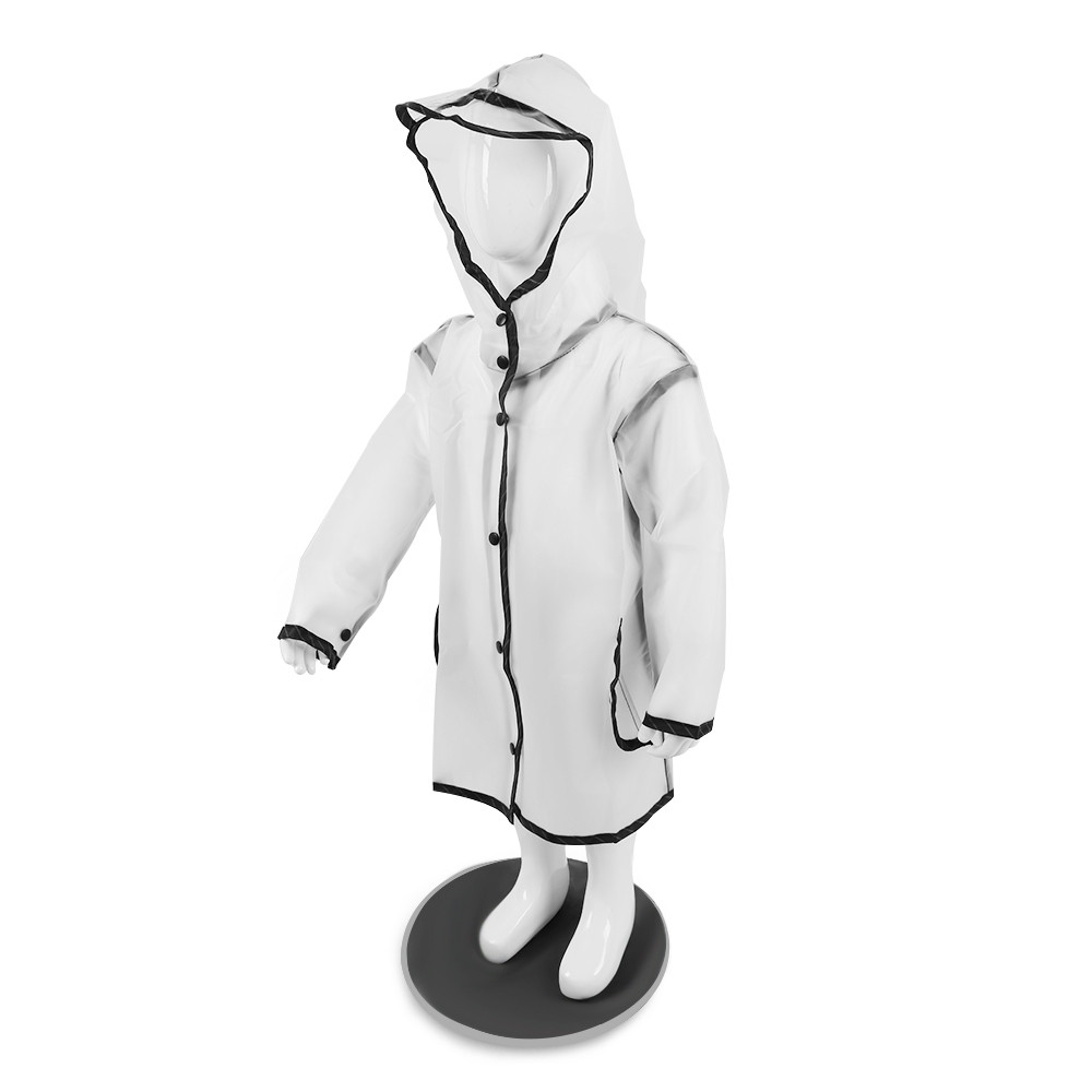 Children Hooded Fringe Transparent Rain Coat Rainsuit Rainwear