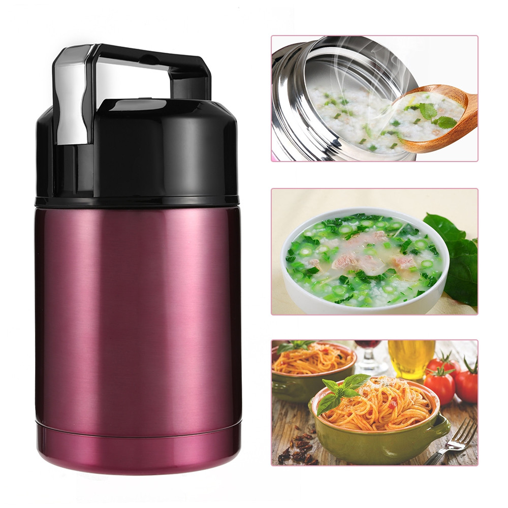 Portable Stainless Steel Vacuum Cup Stew Pot Braised Beaker