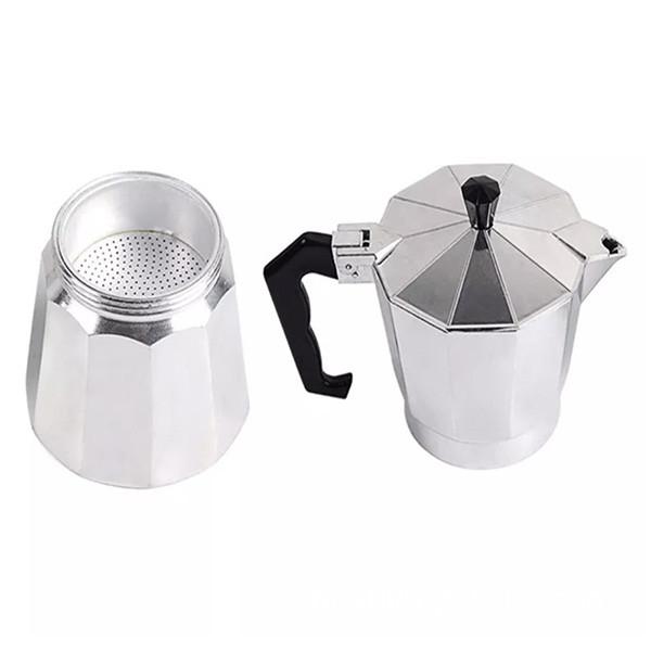 Coffee Pot Aluminum Dripolator European Coffee Kettle Turkey Octagonal Pots Delicate Tool Kitchenware Moka Pot