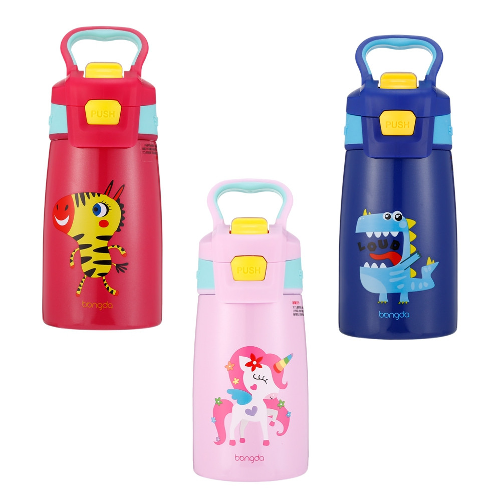 DA28 Children Stainless Steel Vacuum Insulated Water Bottle With Straw 350ml