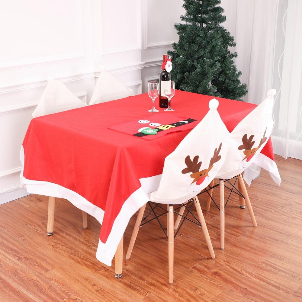 Christmas Dinner Table Chair Cover Decor Sweet Xmas Elk Chair Cover