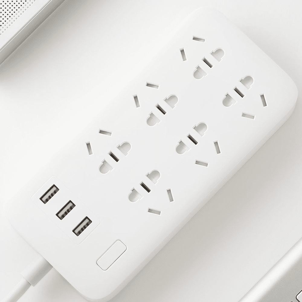 Original Xiaomi CXB6 - 1QM Charging Power Strip 6 Outlet
