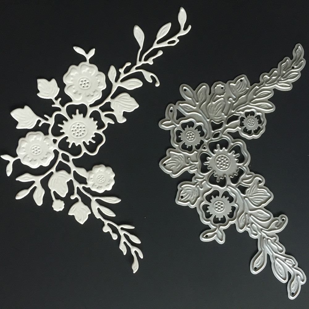 Flower Border Stencil Mould Carbon Steel Embossing Plate Cutting Die for DIY Cards Scrapbooking