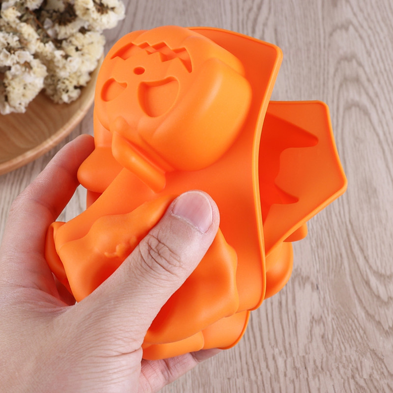 Creative Happy Halloween Silicone Pumpkin Cake Silicone Mold Kitchen Bake Tools