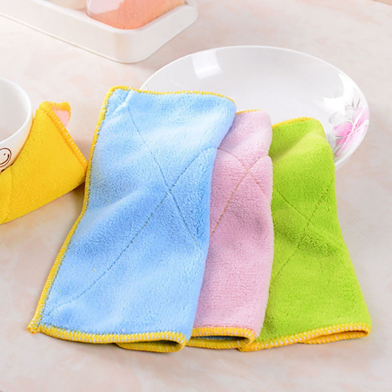 DIHE Powerful Oil Proof Rag Convenient Cleaning Cloth Tools Decontaminate Textile(Random Colour)