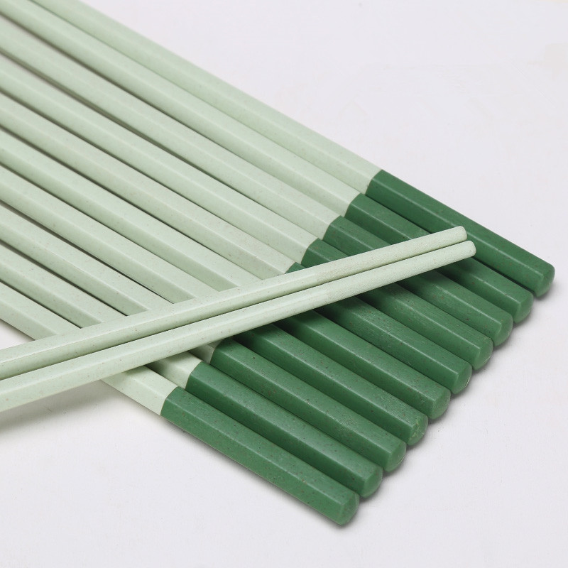 Suncha Colored Green Rice Husk Chopsticks