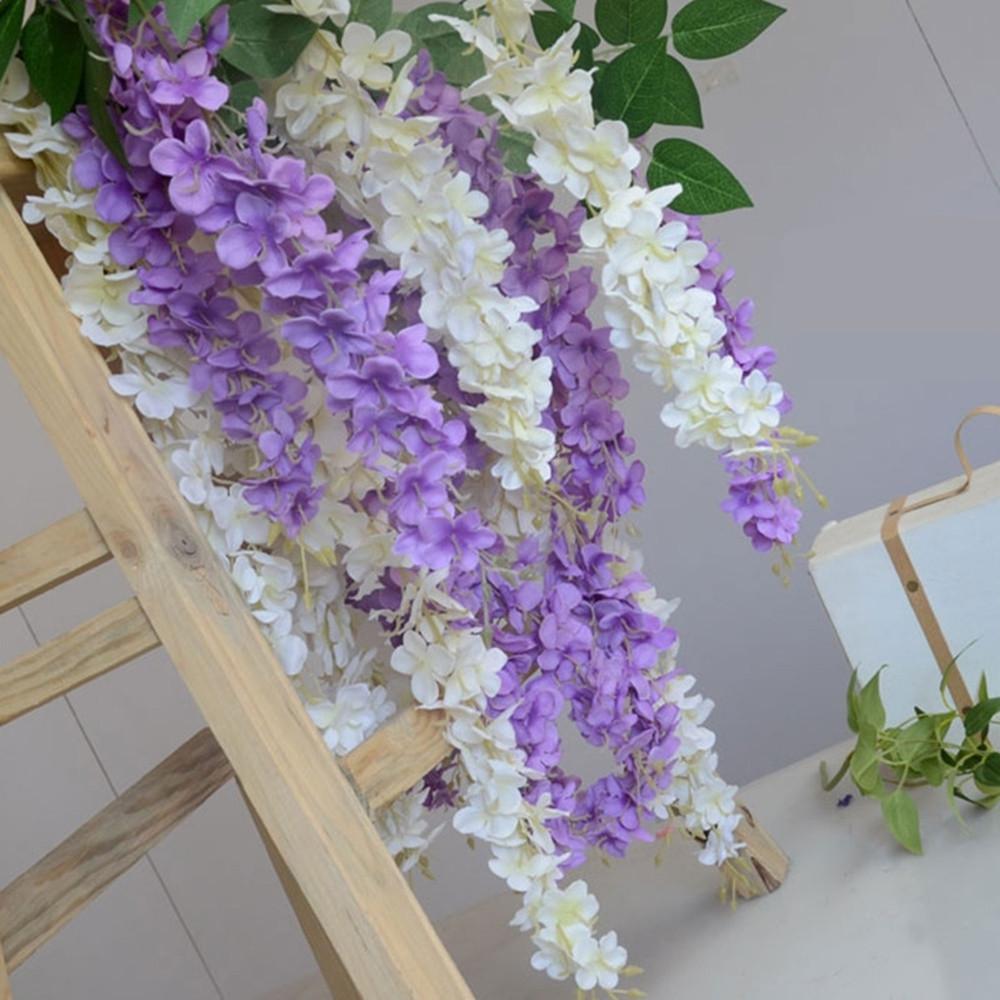 3 Heads 1 Branch Hydrangea String Wedding Site Layout Artificial Flower 140CM