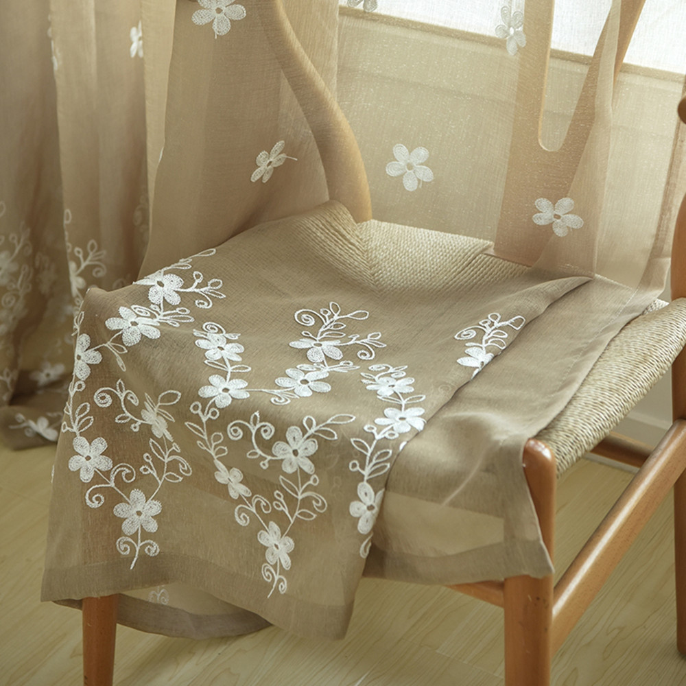 Embroidery Small Floral Screens Curtains