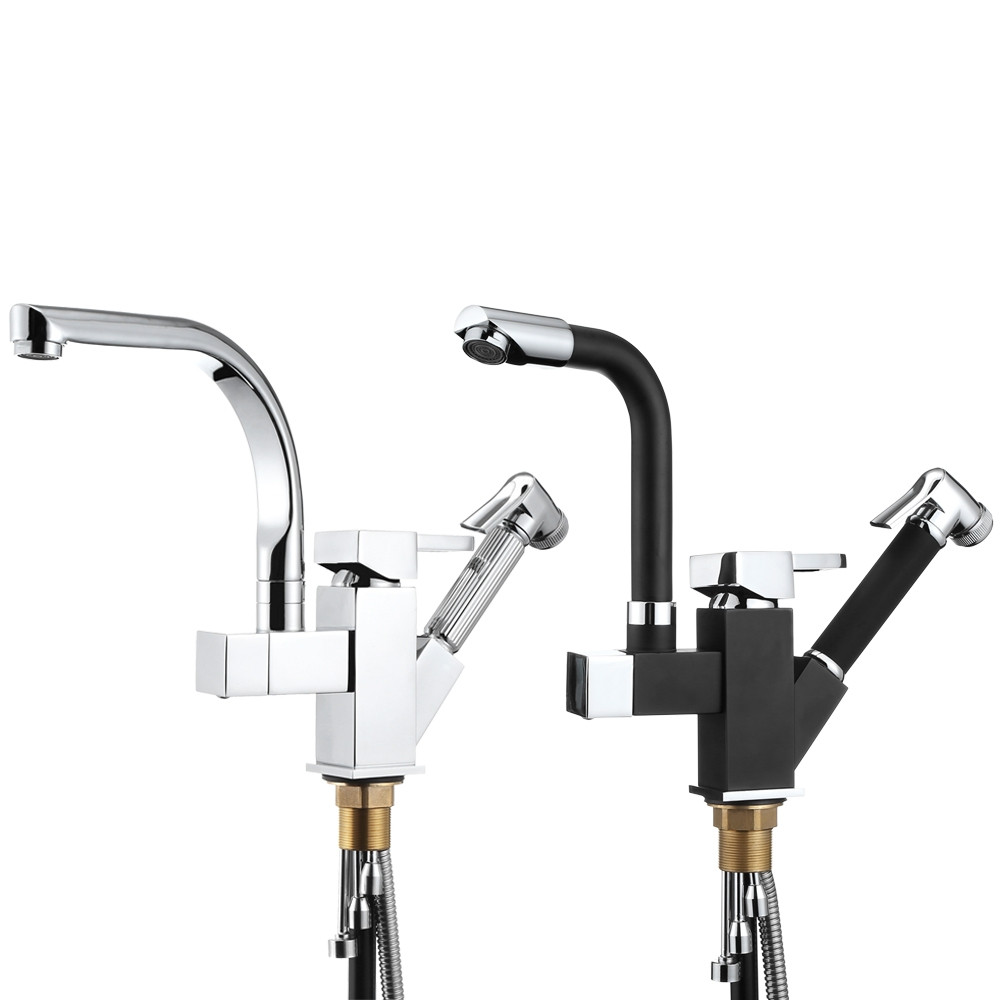 Multifunctional Cold / Hot Kitchen Water Faucet with Pull-down Sprayer