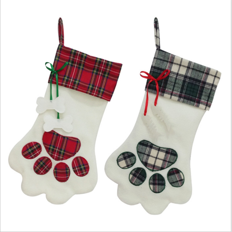 Dogclaw Style Christmas Stocking Gift Bag  2018 New
