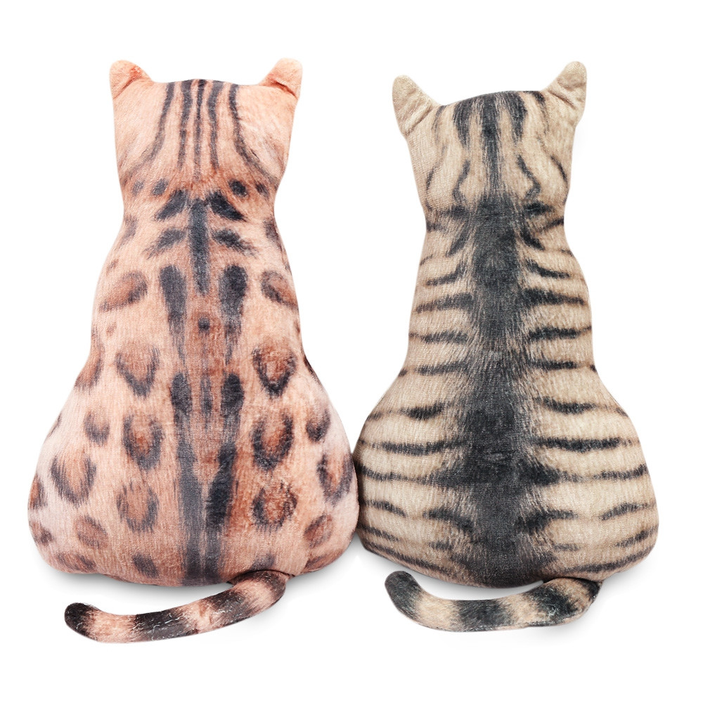 Lovely Cat Shape Stuffed Toy Soft Pillow PP Cotton Home Decoration