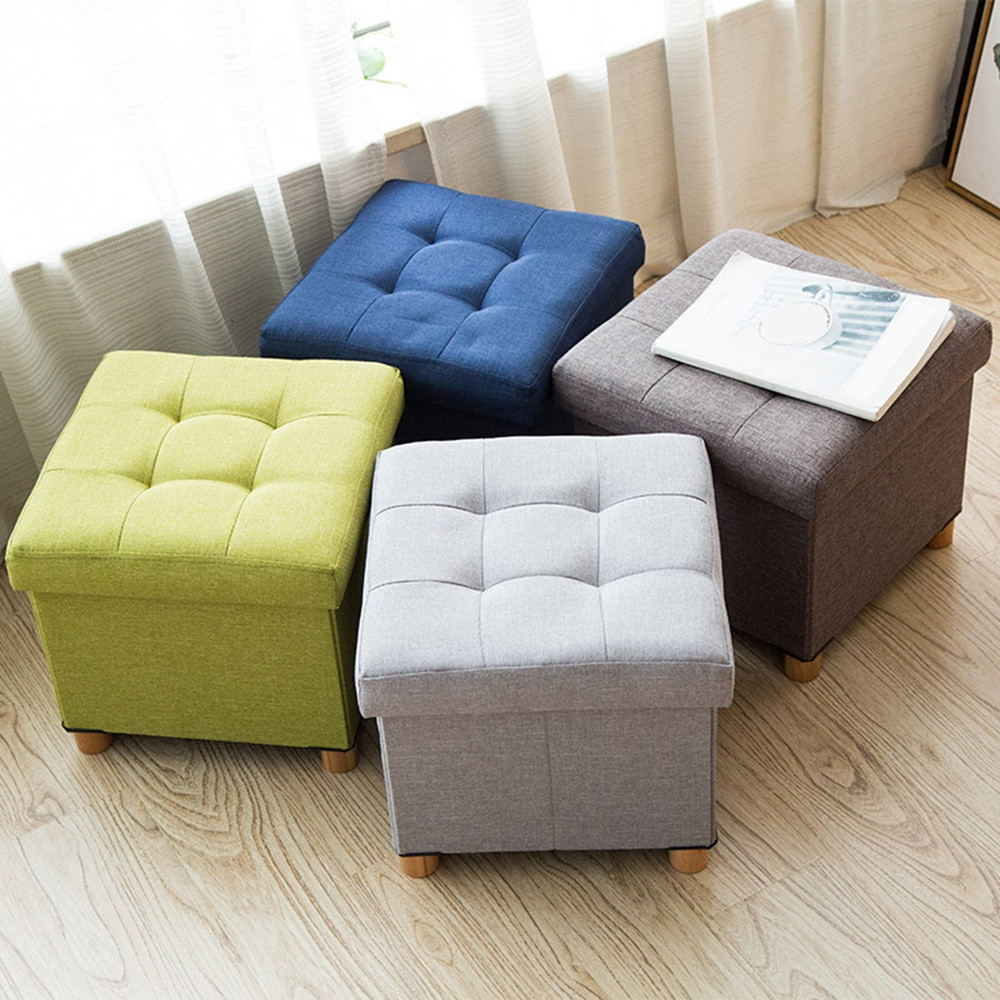 Fitting Room Fabric Stool Multifunctional High Chair for Storage Use