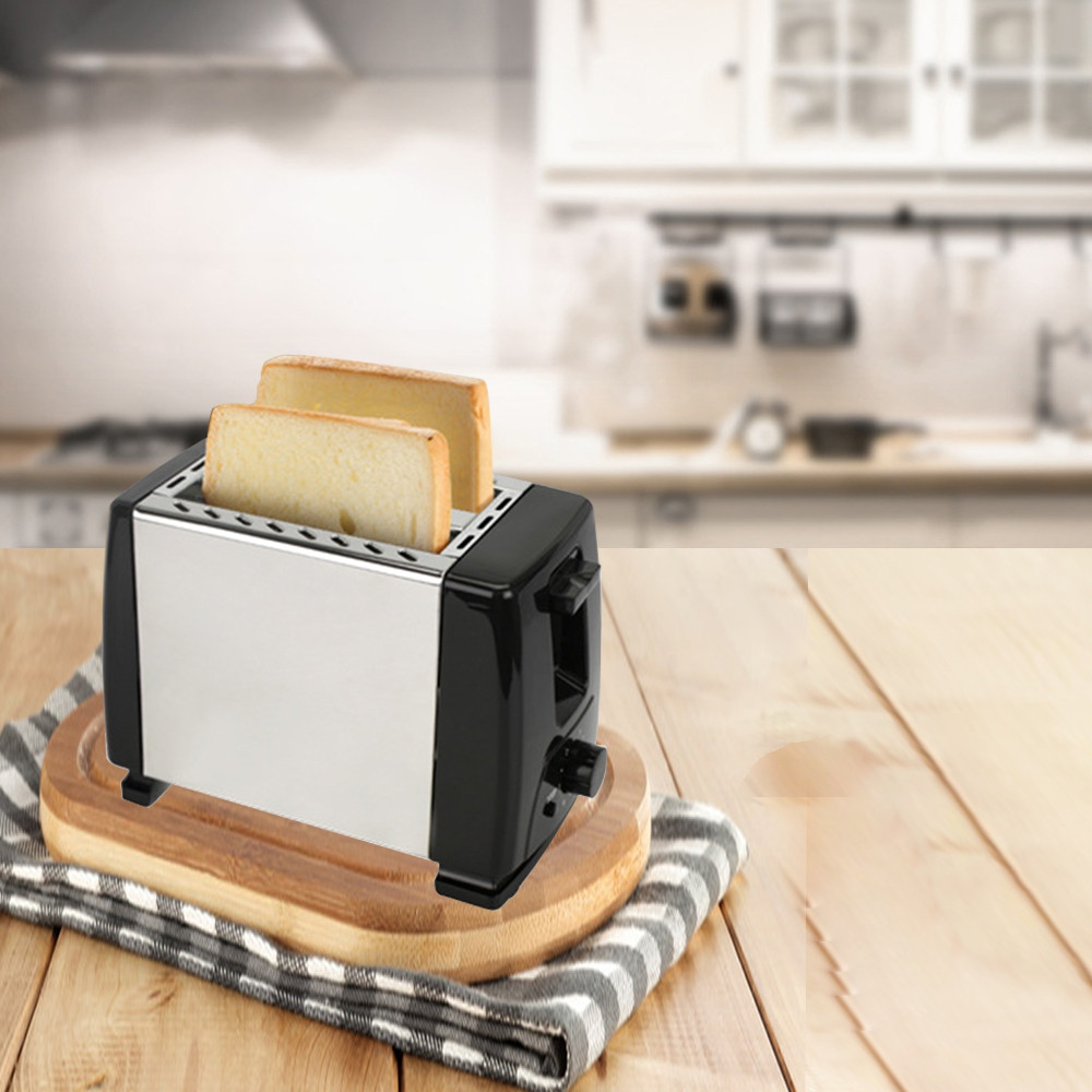 2 Slice Fully Automatic Stainless Steel Household Toaster