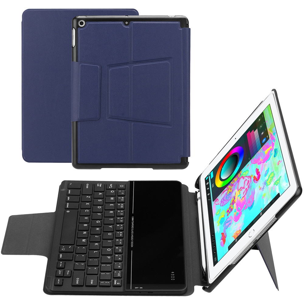 FT - 2068G Detachable Wireless Bluetooth Keyboard Tablet Case Suitable for 2018 / 2017 iPad 9.7 inch with Universal Pen Holder