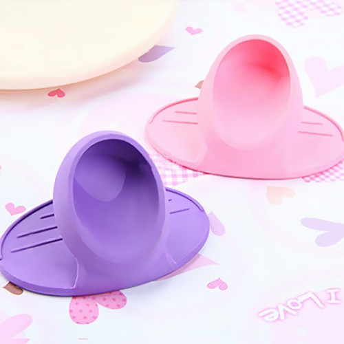 1PC Silicone Oven Mitt Finger Glove Insulated Clip Skid Protection Wise Cook Tool
