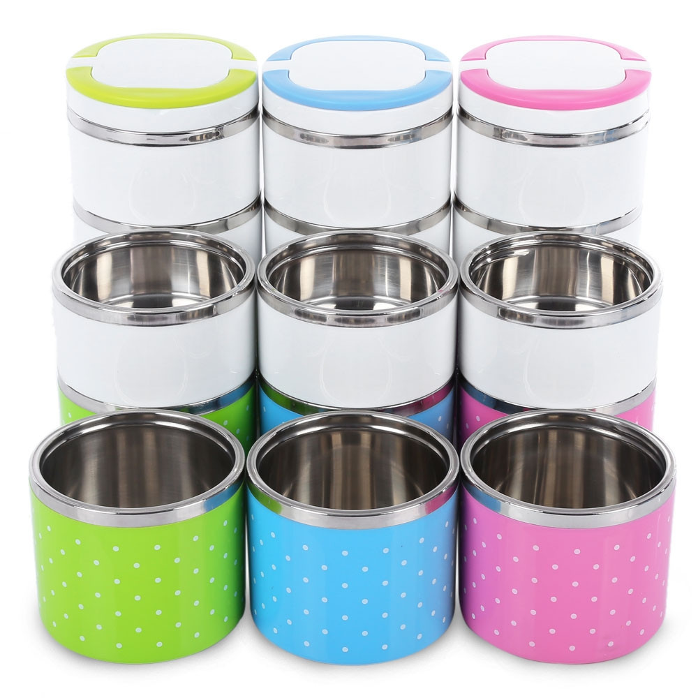 Cute Stainless Steel Food Container Insulation Bento Thermo Thermal Lunch Storage